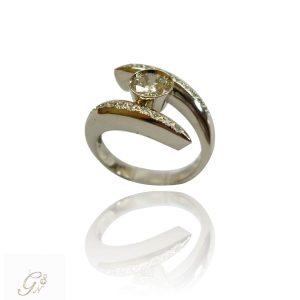 vigselring diamantring solitärring