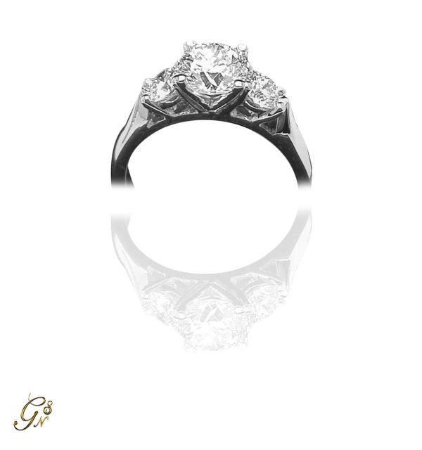 vigselring diamantring trestensring förlovningsring
