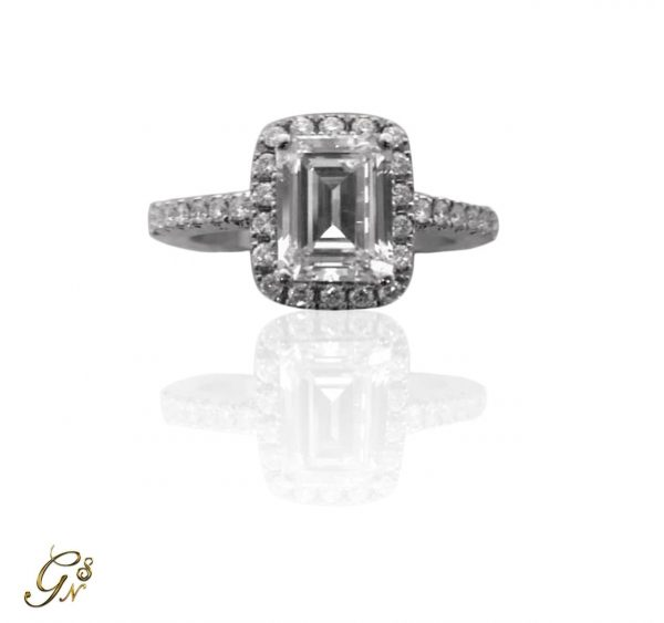 haloring diamantring vigselring